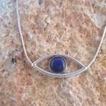 Blue Opal Eye Necklace