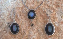 Opal Necklace and Matching Ear-RingsJewellery