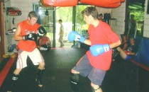 Students Kickboxing In Studio